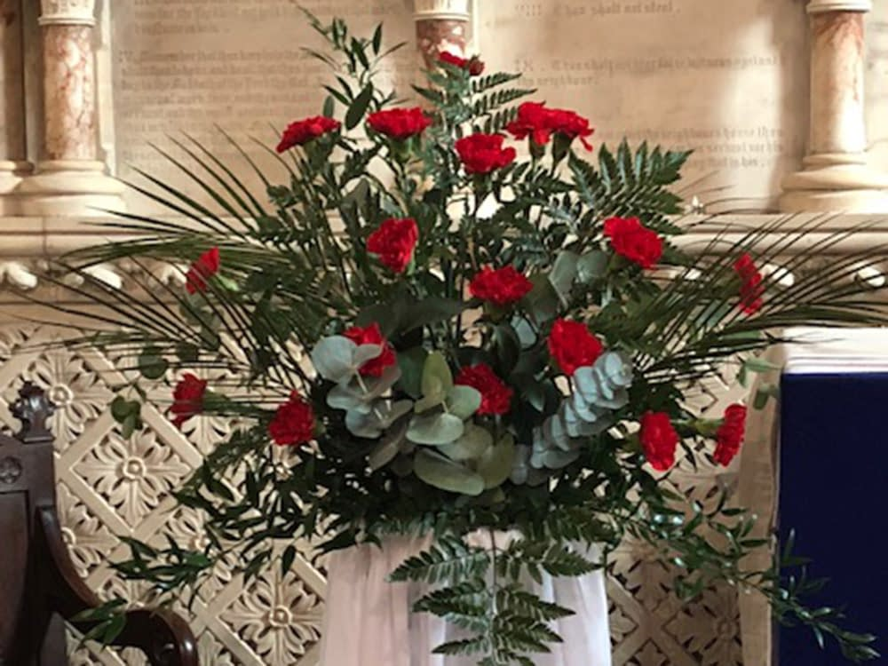 Flowers at St Mark's Church