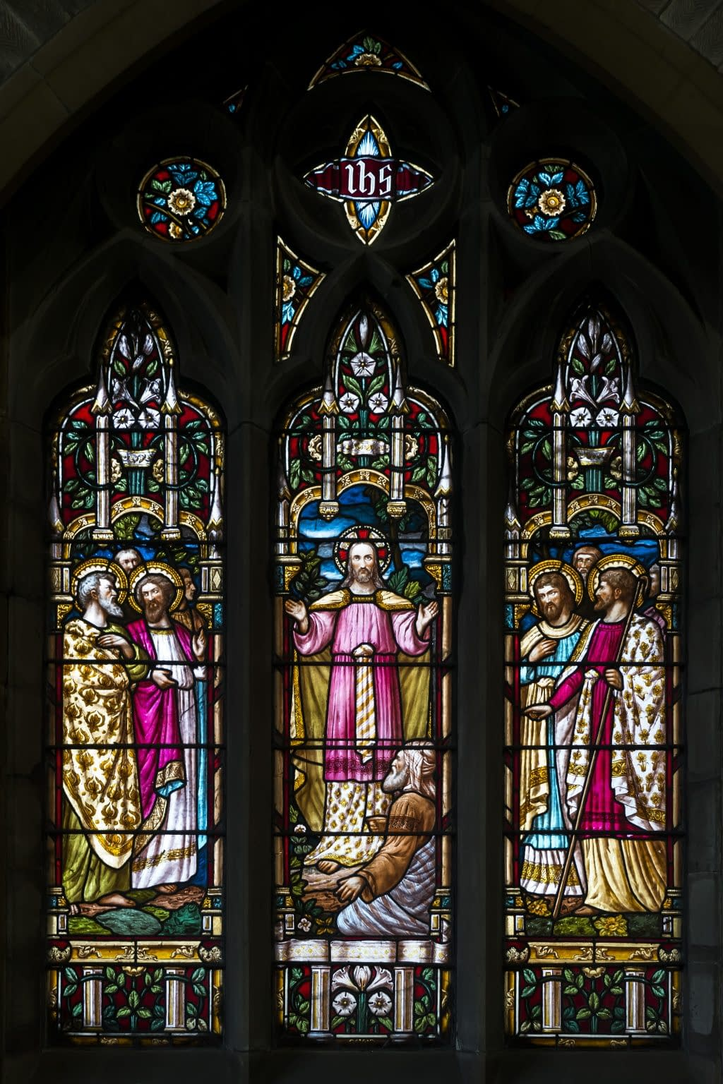 Stained glass window at St Mark's Chruch