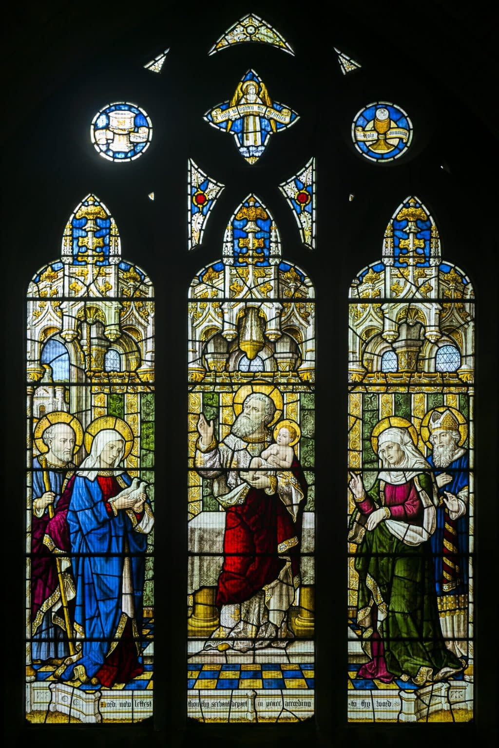 Presentation of Jesus in the Temple - Stained glass window at St Mark's Church