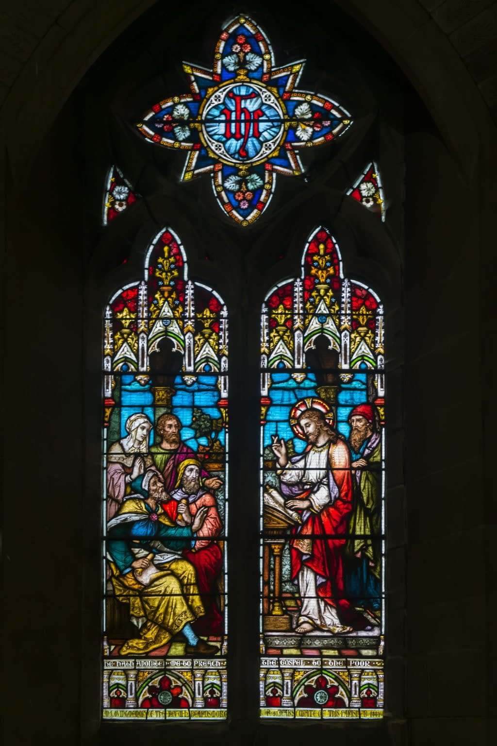 Behind the Lady Chapel altar - Stained glass window at St Mark's Church